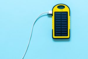 Solar Charger plugged into a Phone